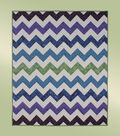 Jewel Waves Chevron Quilt
