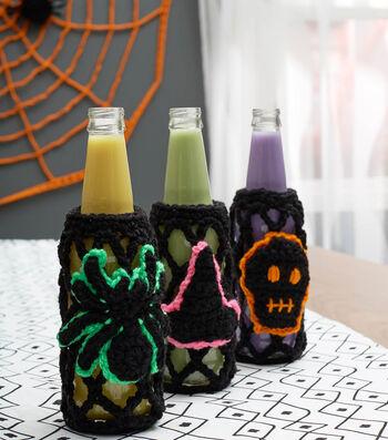 How To Crochet Halloween Soda Bottle Cozies