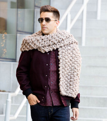How To Make A Couture Jazz Jumbo Knit Scarf