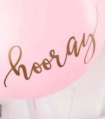 Gold Hooray Balloons