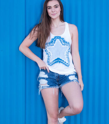 How To Make A Blue Star Tie-Dye Tank Top