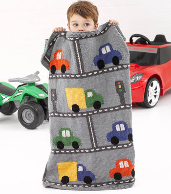 How To Knit A Little Kid Traffic Throw