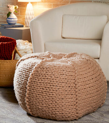 How To Knit A Jumbo Pouf