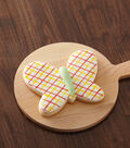 Butterfly Cookie with Gingham Accents