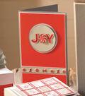 Joy Peppermint Winter Holiday Sticker Card