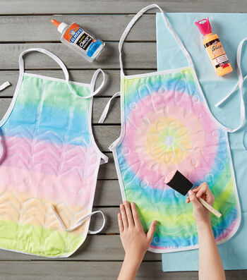 Craft Batik Rainbow Aprons