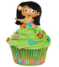 Hula Girl Cupcake