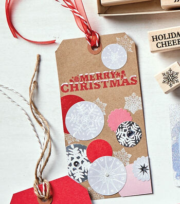 How To Make Merry Christmas Circle Tags