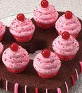 Valentine\u0027s Sweet Treats-Brownies with Cupcakes