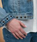 Gem Cluster Embellished Denim Jacket
