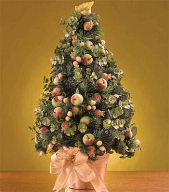 Fruit and Foliage Christmas Tree