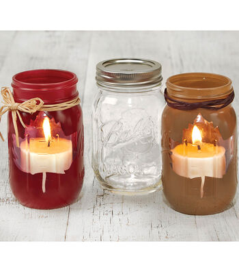Fall Crafted Mason Jars