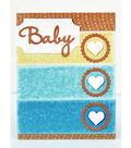 David Tutera Celebrate Card:  Baby Boy Circled Hearts Card