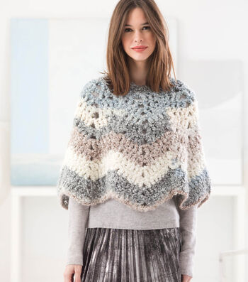 How To Crochet A Cozy Ripple Poncho