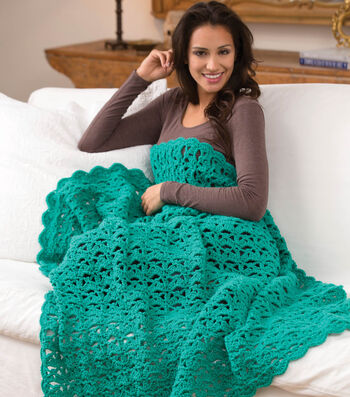 Love Aqua Afghan - Aqueous Throw