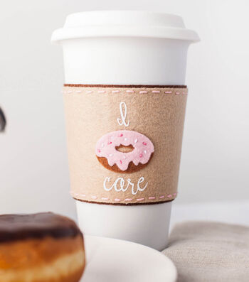 "How To Make A ""I Donut Care"" Coffee Koozie"