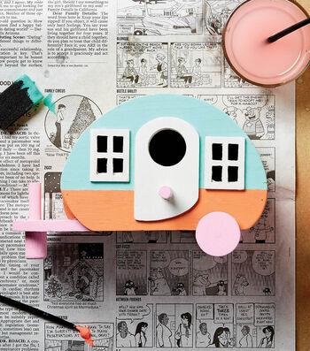 Paint a Wooden Camper Birdhouse