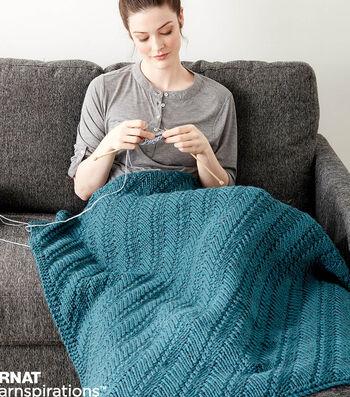 Make A Reversible Knit Lap Blanket