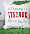 Vintage Inspired Christmas Pillow