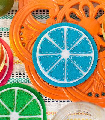 How To Make Citrus Felt Coasters