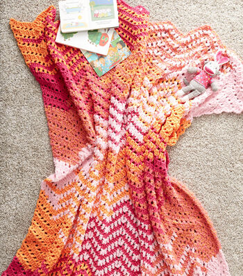How to Make A Crochet Ripple Blanket