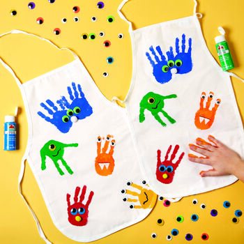 How To Craft A Monster Painted Handprint Apron