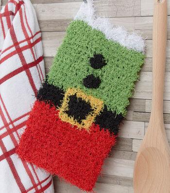 How To Crochet A Santa's Elf Mitt Scrubby