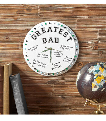 Greatest Dad Wall Art Clock