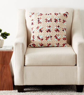How To Crochet Granny Square Pillow