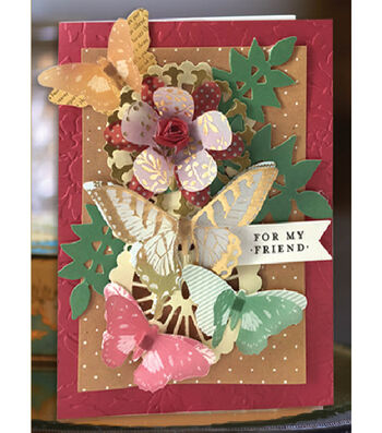 Vellum Blooms & Butterflies Card