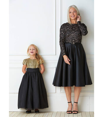Glitzy Dresses for Granddaughters and Grandmother