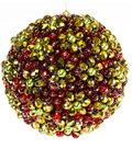 Gold and Red Sparkle Ball Ornament