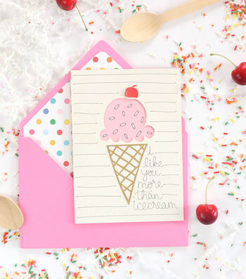 How To Make An Ice Cream Card
