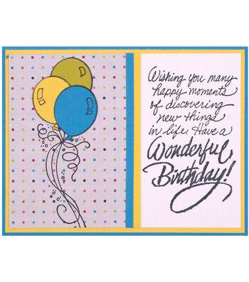 Party Balloon Birthday Wish Card