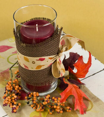 Fall Candle holder and Table Runner