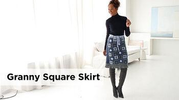Lion Brand Granny Square Skirt