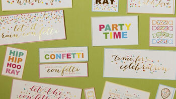 Confetti Papercrafting DCWV