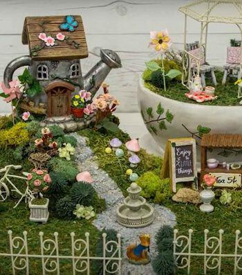 How To Make A Tea Fairy Garden with JoAnn
