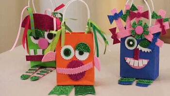 Cute Monster Party Favor Bags