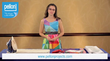 Learn to use the Pellon 809 Decor Bond in sewing and home decor projects