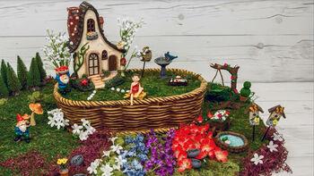 How To Make A Basket Gnome Fairy Garden