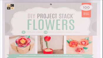 DCWV DIY Project Stack Flowers
