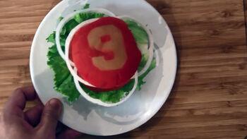 Wilton Game On Color Mist Hamburgers