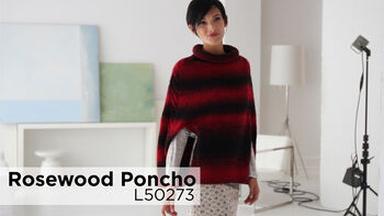 Lion Brand Rosewood Poncho