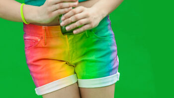 ILove To Create Tip 16 Trend Color Shot Rainbow Shorts Project