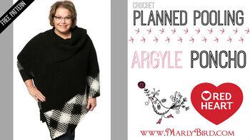 Planned Pooling Argyle Poncho