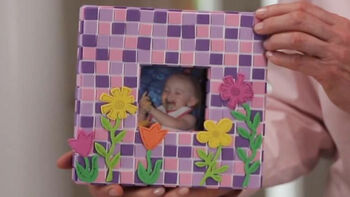 Make a Mosaic Picture Frame with Adhesive Craft Foam