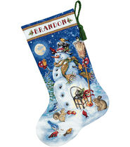 Gold Collection Snowman and Friends Stocking Counted X-Stich Kit