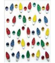 Jolees Boutique Dimensional Stickers-Christmas Light Repeats