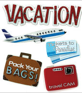 Jolees Boutique Dimensional Stickers-Vacation